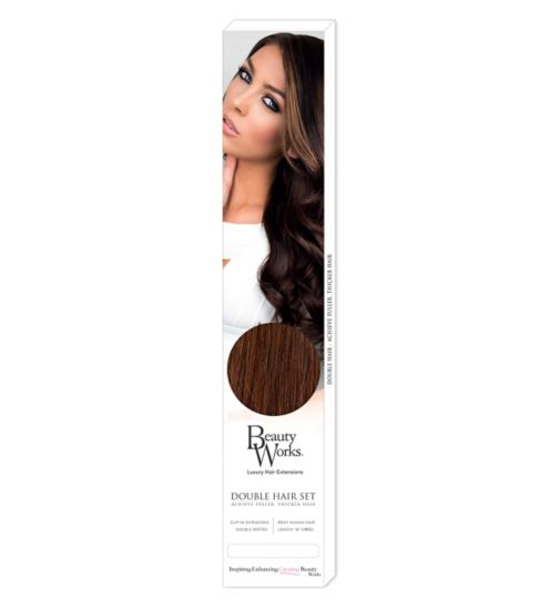 Beauty Works Double Hair Set Clip-In Extensions - Caramel 43dc87e28ade