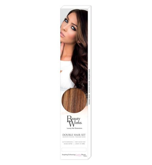 Beauty Works Double Hair Set Clip-In Extensions - Blondette