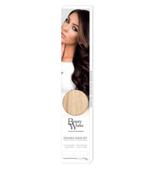 Beauty Works Double Hair Set Clip-In Extensions - LA Blonde
