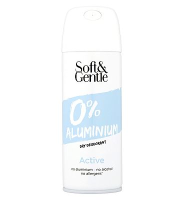 Soft & Gentle 0% Aluminum Dry Deodorant Active 150ml