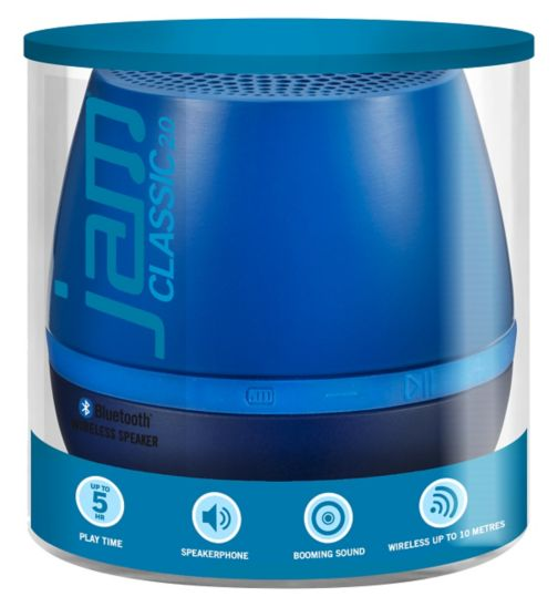 Jam Classic 2.0 Blue Wireless Bluetooth Speaker