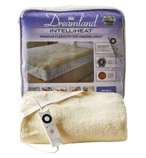 Dreamland Intelliheat Premium Fleece Fitted Underblanket - Double
