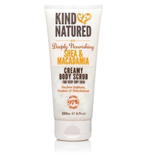 Kind Natured Deeply Nourishing Shea & Macadamia Creamy Body Scrub 200ml