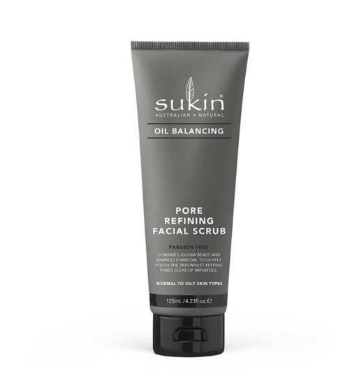 Sukin Oil Balancing Plus Charcoal Pore Refining Facial Scrub
