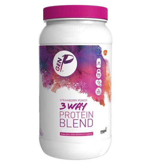 GEN P 3 Way Protein Blend Strawberry Punch - 600g