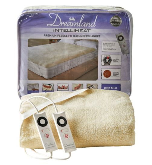 Dreamland Intelliheat Premium Fleece Fitted Underblanket - King Dual Control