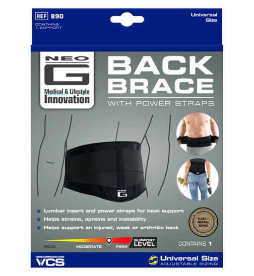 Neo G Back Brace with Power Straps - One Size