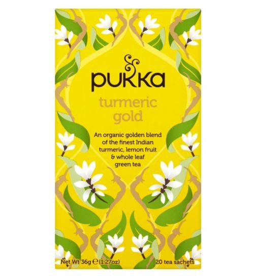 Pukka Organic Turmeric Gold Herbal Tea Bags - 36g