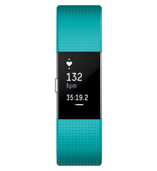 Fitbit Charge 2 Heart Rate & Fitness Wristband - Teal Small