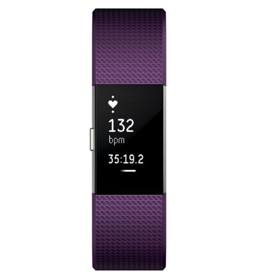 Fitbit Charge 2 Heart Rate & Fitness Wristband - Plum Small