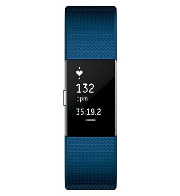 Fitbit Charge 2 Heart Rate & Fitness Wristband - Blue Small