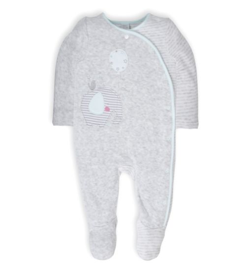 Mini Club Baby Velour All in One Grey Elephant