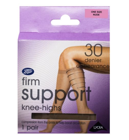 2eec43b05 Boots Firm Support Knee Highs nude