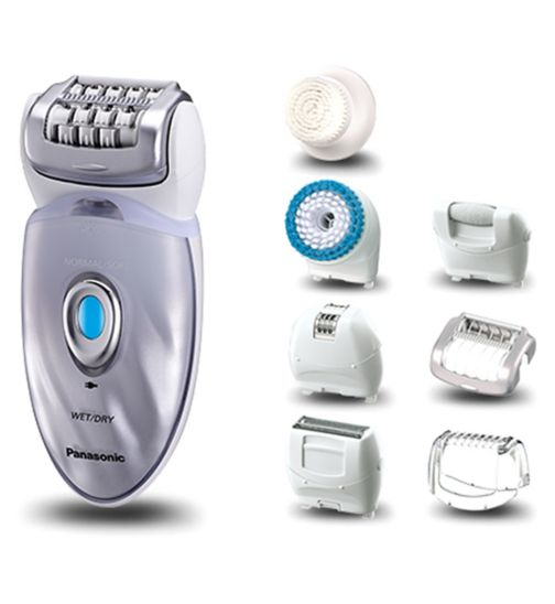 Panasonic ES-ED96 Wet&Dry Cordless epilator/ epilation, exfoliation & cleansing, with 8 attachments