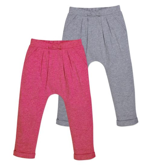 Mini Club Girls 2 Pack Hareem Trouser