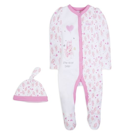 Mini Club Baby Girls All in One and Hat Care Bears