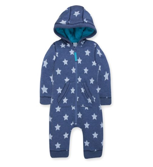 Mini Club Baby Star Print Hooded All in One