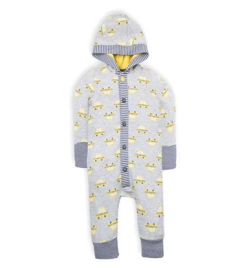 Mini Club Baby Boys Hooded All in One Grey Taxi