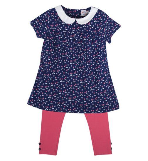 Mini Club Girls Dress and Legging Set Cherries