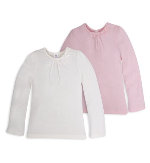 Mini Club Girls 2 Pack Long Sleeve Tops Bow