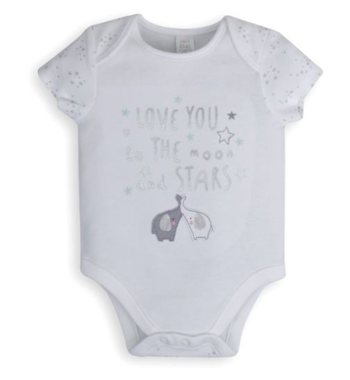 Mini Club Baby Bodysuit White Elephant