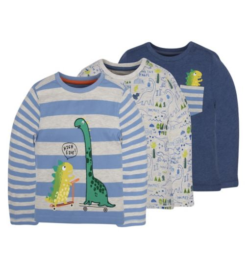 Mini Club Boys 3 Pack Tops Dinosaur