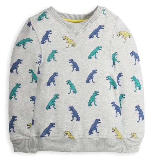 Mini Club Boys Sweatshirt Grey Dinosaur