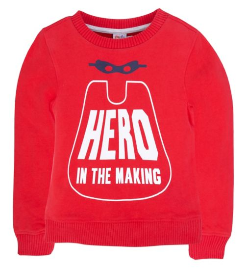 Mini Club Boys Red Sweat Top Hero