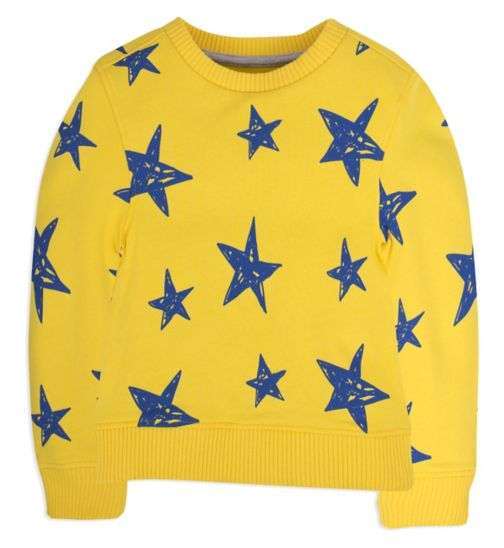 Mini Club Boys Sweat Top Yellow Star