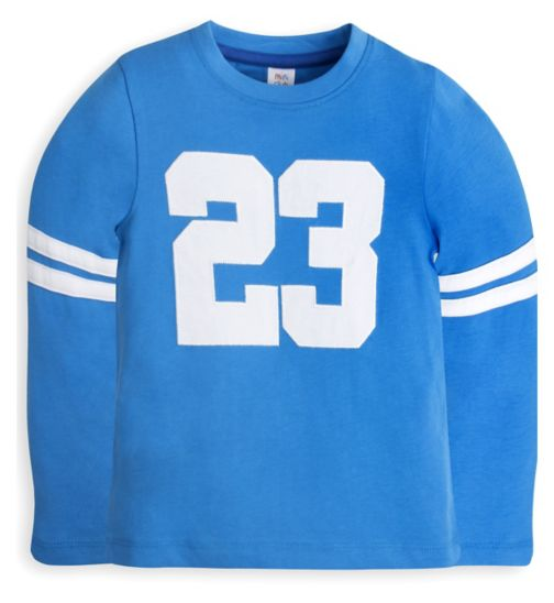 Mini Club Boys Long Sleeve Top Blue Number