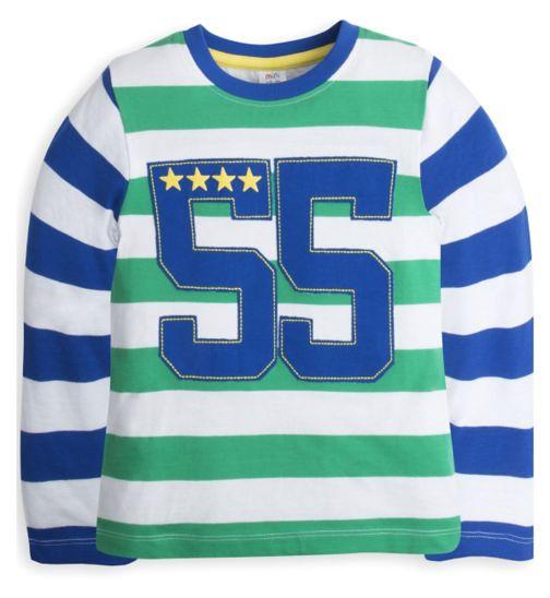 Mini Club Boys Long Sleeve Top Stripe Number
