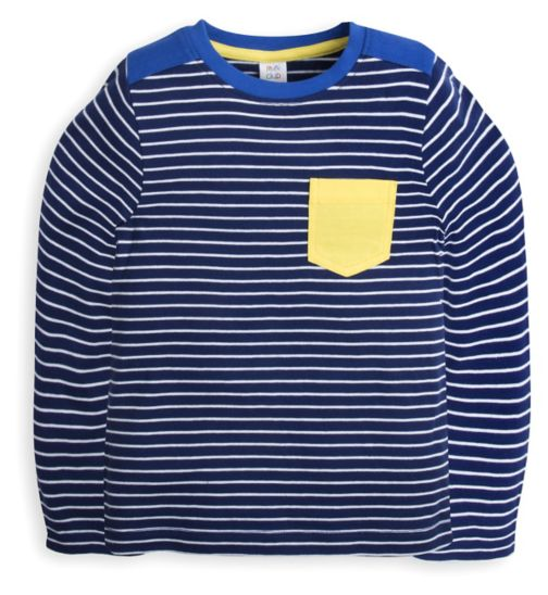 Mini Club Boys Long Sleeve Top Navy Stripe