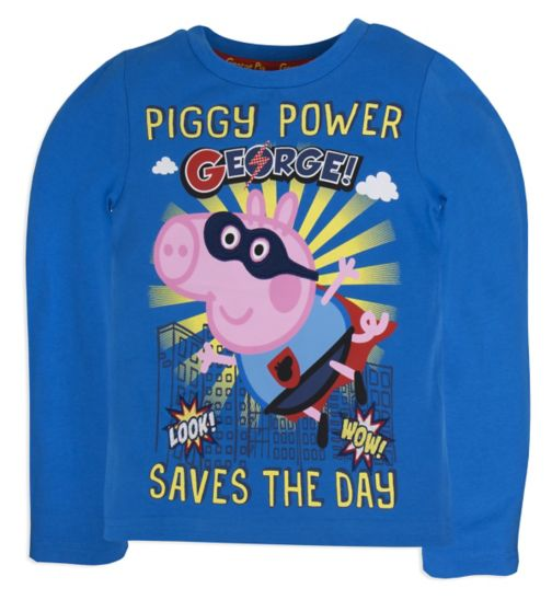 Mini Club Boys Long Sleeved Top Blue George Pig