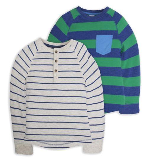 Mini Club Boys 2 Pack Long Sleeve Tops Stripe