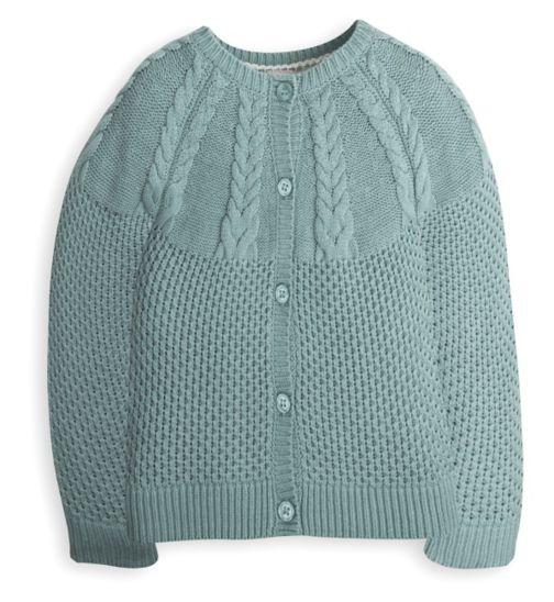 Mini Club Girls Cardigan Green Knit