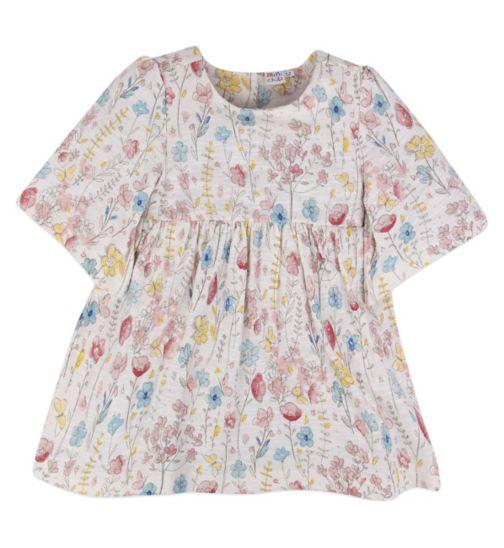 Mini Club Girls Tunic Beige Floral