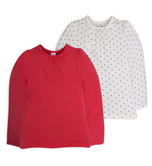 Mini Club Girls 2 Pack Long Sleeved Tops