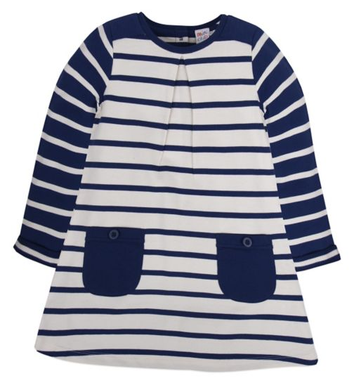 Mini Club Girls Long Sleeved Dress Stripe