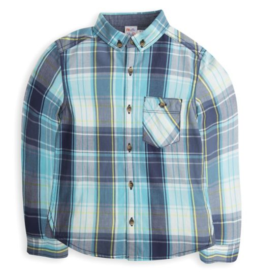 Mini Club Boys Checked Shirt Turquoise