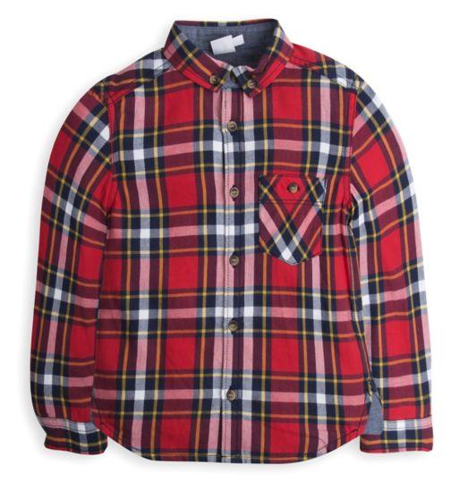 Mini Club Boys Checked Shirt Red