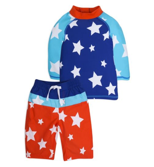 Mini Club Boys 2 Piece Swim Set Star