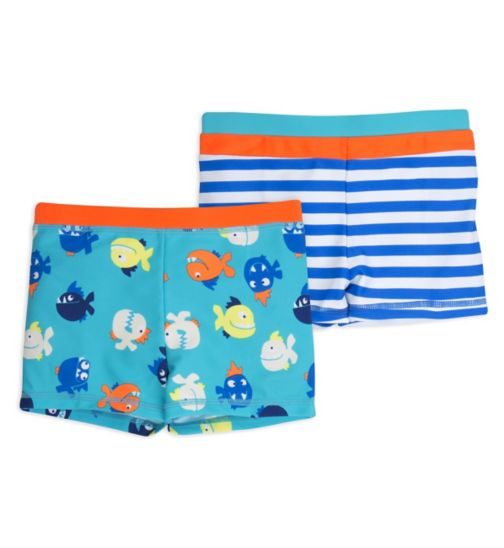 Mini Club Boys 2 Pack Trunks Blue