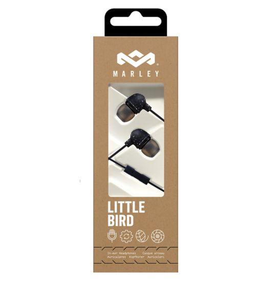 Marley Little Bird In-Ear Headphones Black EM-JE061-BK