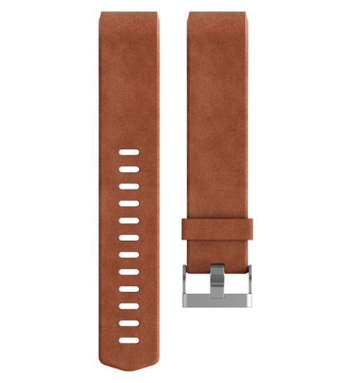 Fitbit Charge 2 Leather Accessory Band - Brown Small