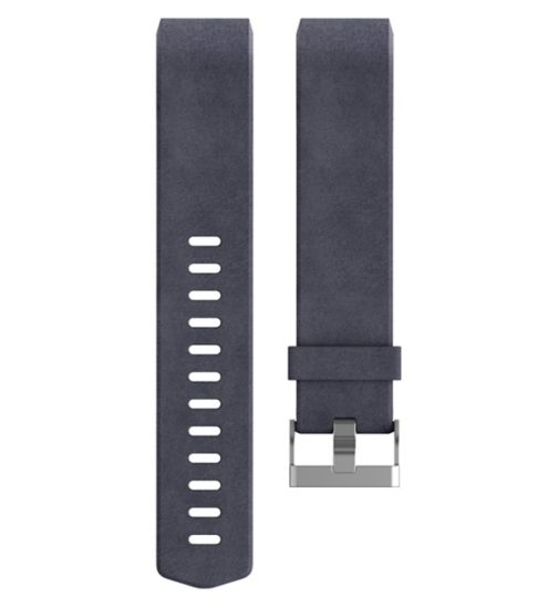 Fitbit Charge 2 Leather Accessory Band - Indigo Small