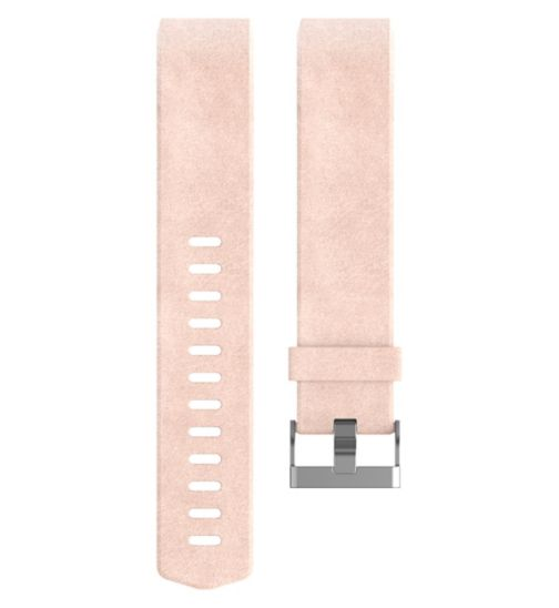 Fitbit Charge 2 Leather Accessory Band - Pink Blush Large