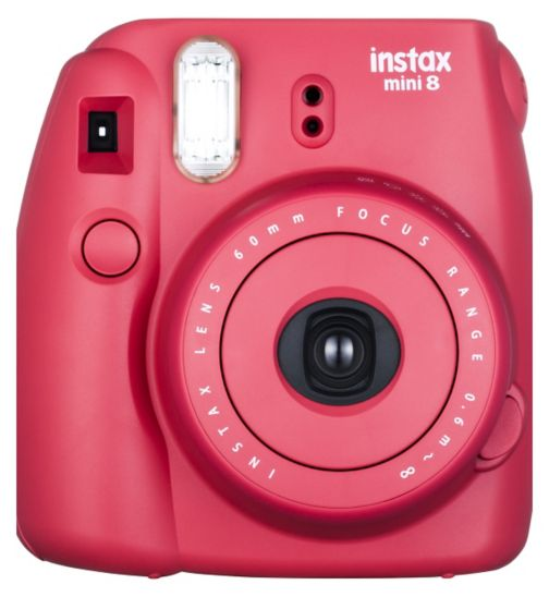 Fujifilm Instax Mini 8 Camera Raspberry Red Plus 10 Instant Film Shots