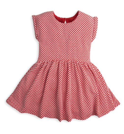 Mini Club Girls Dress Red Polka Dot