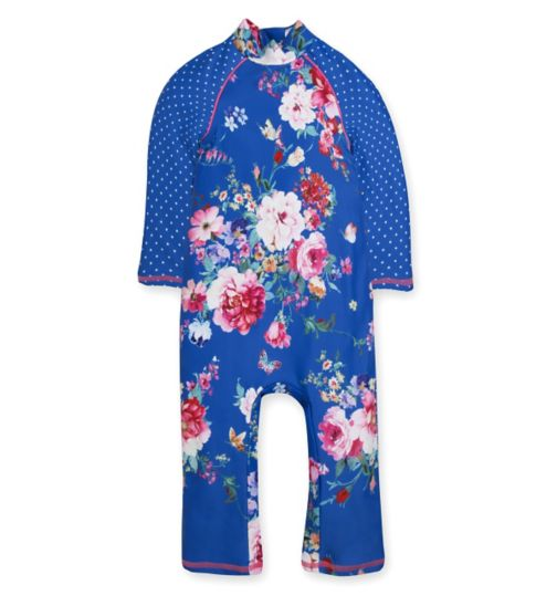 Mini Club Sunsafe Swimsuit Blue Floral