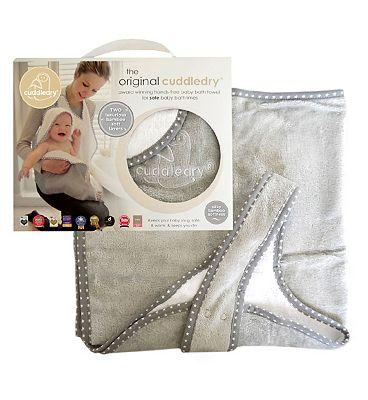 Cuddledry Hands-free Baby Bath Towel - Grey Star